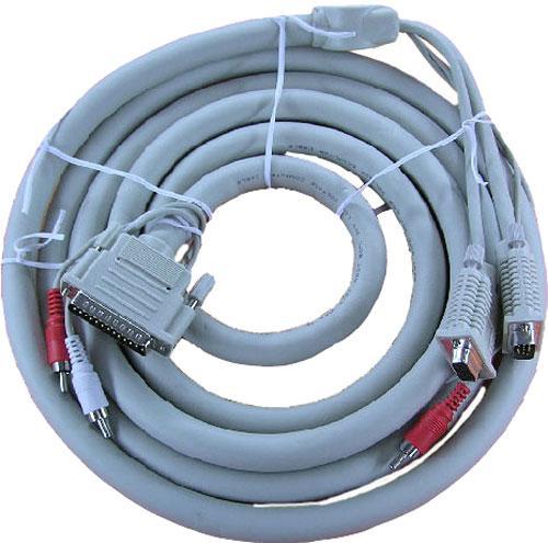 Kabel VGA/COM/CINCH  - LPT (wtyk/wtyk/wtyk x2/ 25 pin/CINCH wtyk/wtyk x2) 6866VAC003A,0