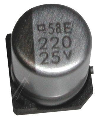 220uF   25V Kondensator elektrolityczny 105°C SMD 10mm/8mm,0