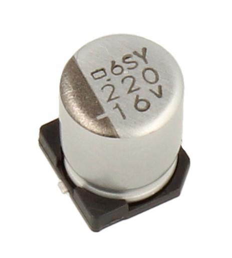220uF | 16V Kondensator elektrolityczny 105°C SMD 7.7mm/6.3mm,0