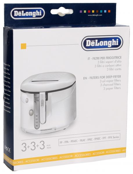 Filtr oleju (zestaw) do frytkownicy DeLonghi 5525103400,0