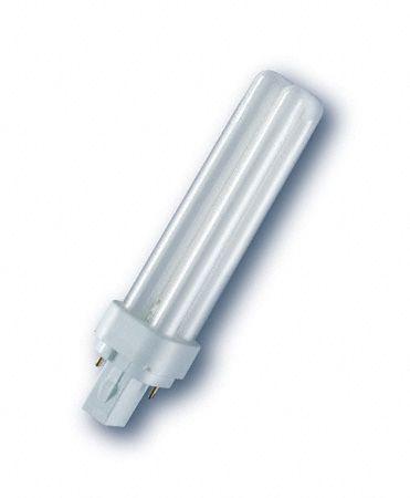 Żarówka | Świetlówka energooszczędna G24 18W Osram dulux-d (biały zimny),0
