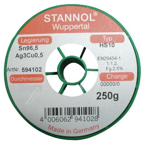 Cyna 0.5mm 250g Stannol - bezołowiowa,0