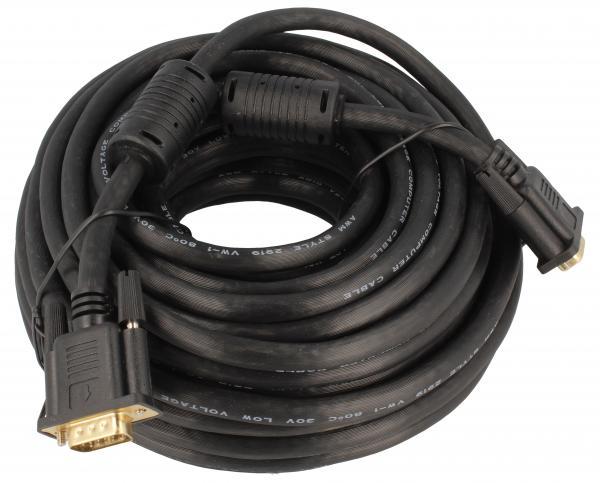 Kabel VGA (D-Sub) 15m (wtyk/wtyk) standard,0