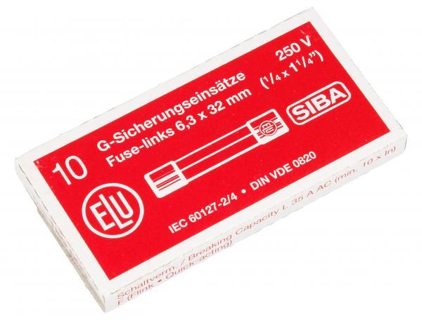 3.15A F Bezpiecznik szybki (32mm/6.3mm) 10szt.,0