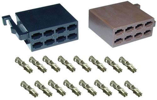 530813 ISO-STECKERSET, INCL   DOPPELFLACHFEDER KONTAKTE,0