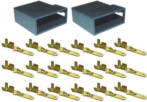530825 Zestaw obudów gniazd ISO + 16 styków,0