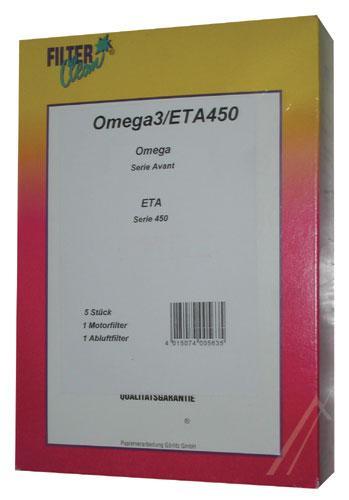 Worek OM3 2 filtry do odkurzacza 5szt.,0