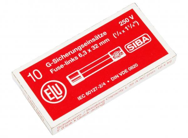 0.8A 250V F Bezpiecznik szybki (32mm/6.3mm) 10szt.,0