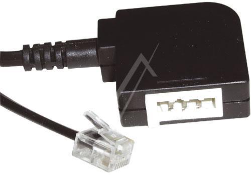 Kabel telefoniczny 0.2m 6P4C - TAE (wtyk/ wtyk),0