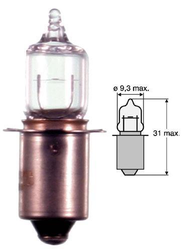 4.8V 0.5A Żarówka halogenowa (31mm/9.3mm),0