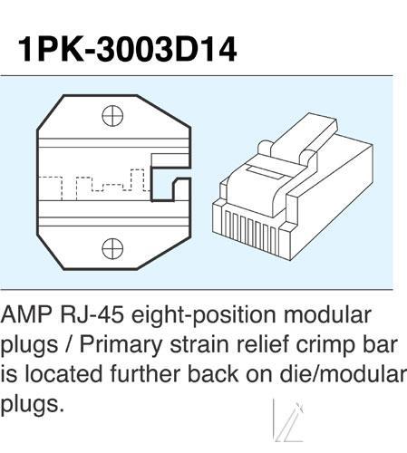 Wkładka do zaciskarki 1PK3003D14,0