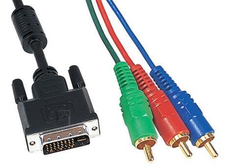Kabel 3m CINCH RGB - DVI (wtyk x3/ wtyk) standard,0