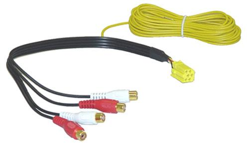 630108 line-out adapter 30cm mini-iso auf cinch, 4-kanal-ausführung,0
