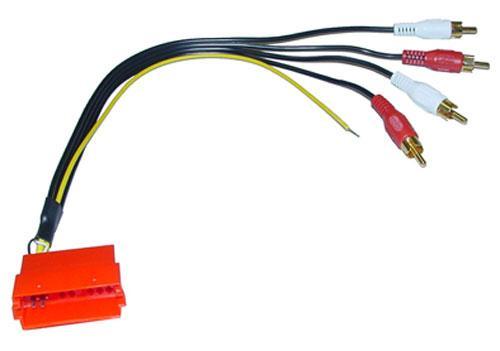 630112 LINE-OUT ADAPTER 30CM CINCH AUF MINI-ISO, 4-KANAL-AUSFHRUNG,0