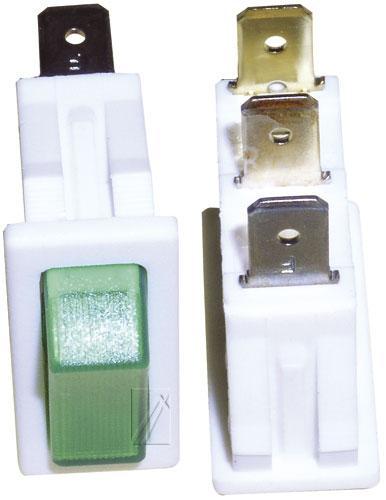 365219322 włącznik sieciowy 1-pol zielony 16a/250v 11x30mm INTERBÄR,0