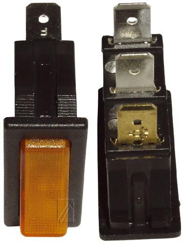 365284922 włącznik sieciowy 1-pol podświetlany 16a/250v 11x30 INTERBÄR,0