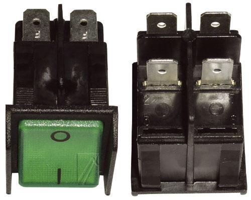 365285122 włącznik sieciowy 2-pol podświetlany 16a/250v 11x30 INTERBÄR,0