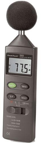 Sonometr | Miernik poziomu dźwięku P5055 Peaktech,0