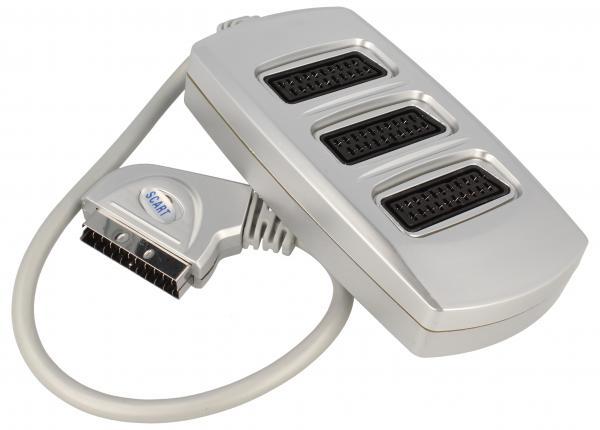 Rozgałęźnik przełącznik 0.5m SCART - SCART (wtyk/ gniazdo x3) standard,0