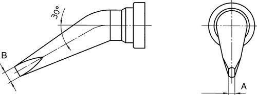 LT-BX Grot 2.4mm do lutownicy T0054444299 Weller,0