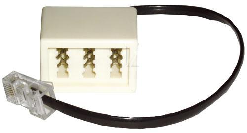 Adapter telefoniczny RJ-45 - TAE (wtyk/ gniazdo),0