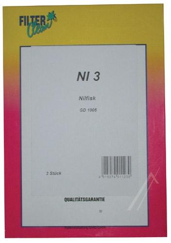 Worek NI3 do odkurzacza 3szt.,0