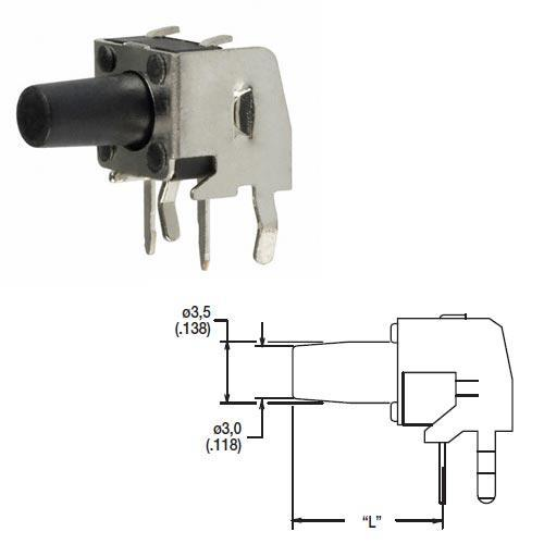 PTS645 mikroprzełącznik 12v-50ma 6,0 x 6,0 x 3,5mm,0
