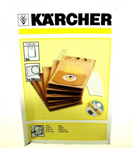 Worek do odkurzacza Karcher 5szt. (+filtr) 69042630,0