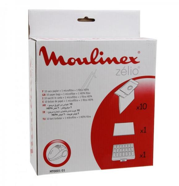 Worek do odkurzacza MT000101 Moulinex 10szt. (+2 filtry) MT000101,0