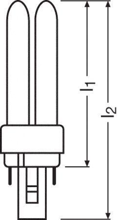 Żarówka | Świetlówka energooszczędna G24D1 10W Osram dulux-d (biały ciepły),0