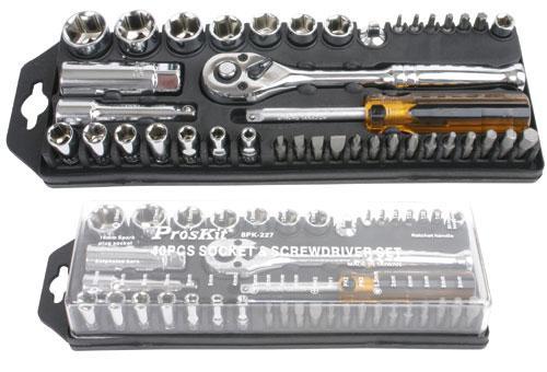 Komplet | Zestaw kluczy nasadowych z grzechotką 8PK227 Proskit,0