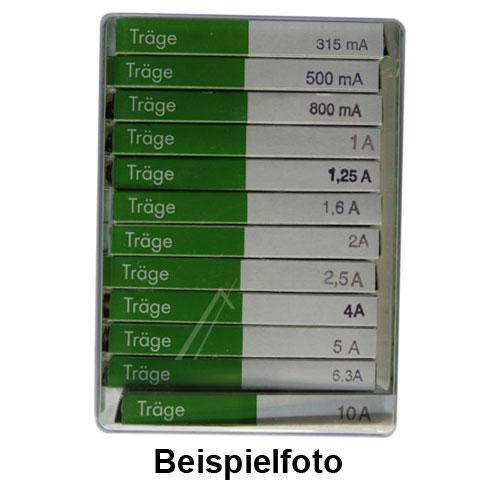 SORTIMENTSKASTEN SICHERUNGEN MITTELTRÄGE 6,3X32MM,0