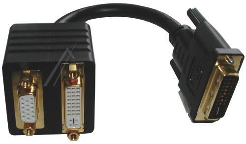 adapter dvi 24+5 wtyk/gn+ hd-sub gniazdo,0