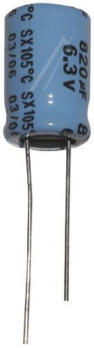 820uF | 6.3V Kondensator elektrolityczny 105°C 15mm/10mm,0