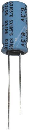 1200uF | 6V Kondensator elektrolityczny 105°C 20mm/10mm,0