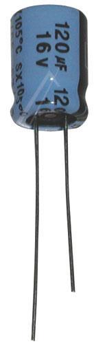 120uF | 16V Kondensator elektrolityczny 105°C 11mm/6mm,0