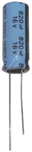 820uF | 16V Kondensator elektrolityczny 105°C 19mm/10mm,0