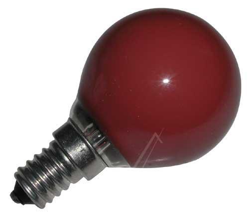 25W 230V Żarówka kulista (75mm/45mm) E14 czerwona,0