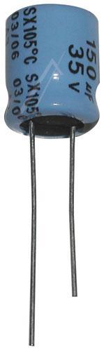 150uF | 35V Kondensator elektrolityczny 105°C 12mm/10mm,0
