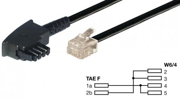 Kabel telefoniczny RJ-11 - TAE (wtyk/ wtyk),0