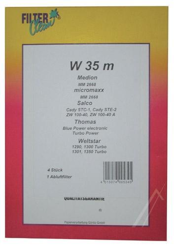 Worek W35M filtr do odkurzacza 4szt. - oryginał: FL0048K,0