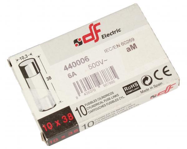 6A Bezpiecznik zwłoczny (38mm/10.3mm) 10szt.,0