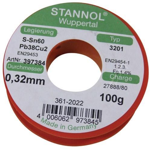 Cyna 0.32mm 100g Stannol - SMD,0