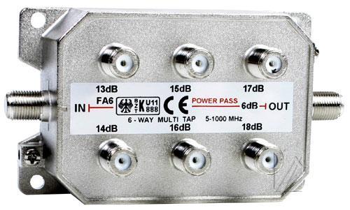 BAZ600 odgałęźnik 6 wyjsc 13-18db,0