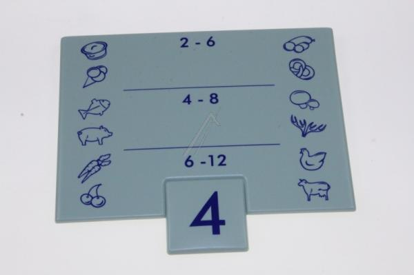 Tabliczka | Karta długości przechowywania żywności do lodówki Liebherr 743021800,0