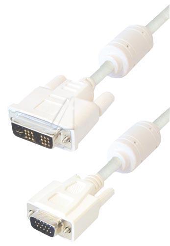 Kabel 5m VGA - DVI (wtyk/ 18+5 wtyk),0