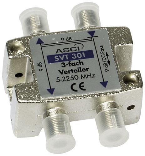 SVT301 rozgałęźnik 1/3 sat 5-2500mhz 1dc ASCI,0