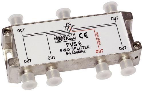 SVT601 rozgałęźnik 1/6 sat 40-2400mhz 1xdc-pass ASCI,0