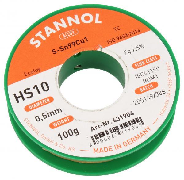 Cyna 0.5mm 100g Stannol - bezołowiowa,0