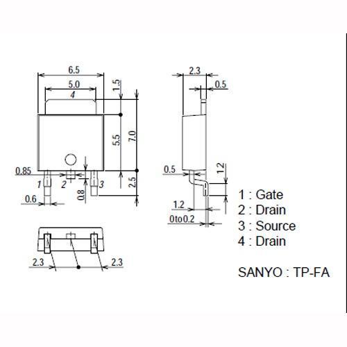 2SK3850TP-FA Tranzystor,0